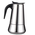 Fogão De Aço Inoxidável Moka Espresso Coffee Cafeteira Cafeteira 6 Xícara